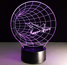 fczka Time Machine Lámpara de ilusión visual 3d Acrílico transparente Luz nocturna Led Hada Lampa Cambio de color Mesa táctil Bulbing Lambas