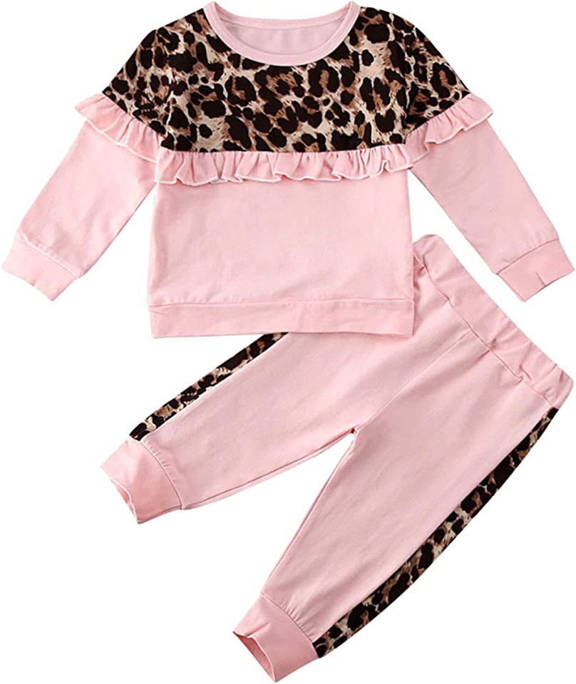 Kleinkind Jogginganzug Mädchen Sportanzug Freizeitanzug Einhörner Sweatshirt Top + Baumwolle Jogginghose Kinder Bekleidungsset für 2-8 Jahre