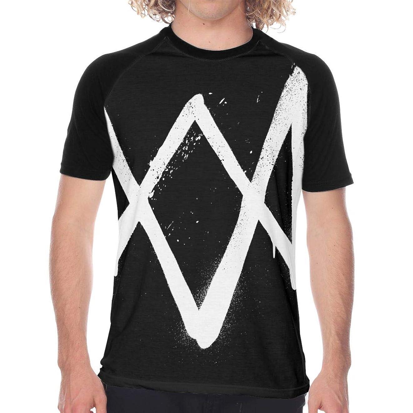 毎月アシスト出発Watch Dogs 2 メンズ Tシャツ インナーシャツ シンプル 半袖 クルーネック シンプル