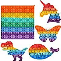 ポップフィジェット おもちゃ バブルフィジェット 感覚おもちゃ 安い 不安 スクイーズ ストレス解消 シリコン フィジェット トイ ADD ADHD用 フィジェットノベルティギフト 子供 大人5個