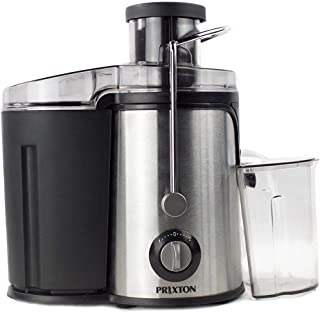 PRIXTON - Centrifugeuse Extracteur de Jus/Extracteur de jus de Fruits et Légumes, Puissance 600 W, Lames puissantes, 2 Vit...