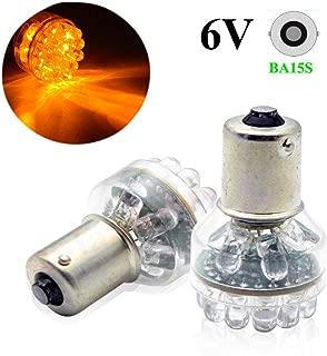 Ruiandsion 2pcs 6V 1156 BA15S DIP 24 LED Bulbs Used for Turn Signal Lights - Amber