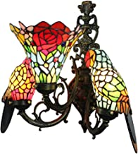 16c Stained Glass Wall lamp, Living Room Bedroom Restaurant Bar Hotel Club Three up Parrot Wall lamp,40