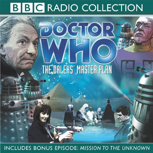 Doctor Who: The Daleks' Master Plan                   By:                                                                                                                                 Terry Nation,                                                                                        Dennis Spooner                               Narrated by:                                                                                                                                 William Hartnell,                                                                                        Peter Purves,                                                                                        full cast                      Length: 5 hrs and 23 mins     1 rating     Overall 3.0