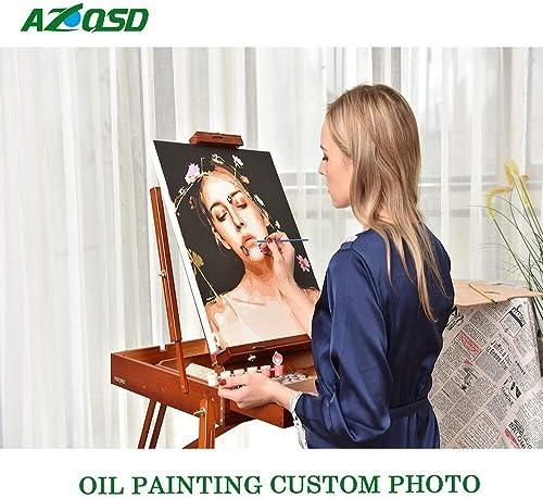 KYKDY Photo Personnalisé Peinture à L'huile Par Numéros Dessin Toile Photos Portrait Kits Mariage Famille Enfants Photos Cadeau De Bricolage, 70x110cm sans cadre