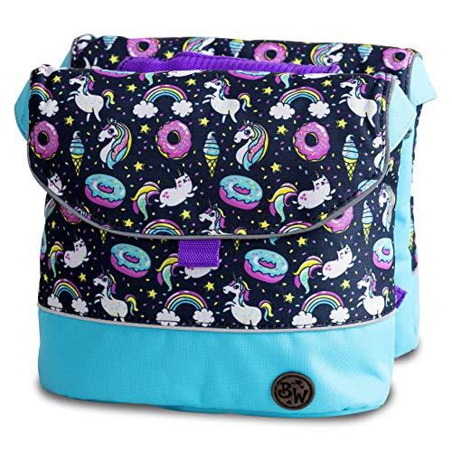 BambinIWelt Gepäcktasche, Gepäckträgertasche für Fahrrad, Fahrradtasche für Kinder, wasserabweisend, z.B. für alle Puky Räder (Modell 24)