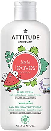Attitude Little Leaves Natural Bubble Bath For Kids - Watermelon And Coco - 473 ml