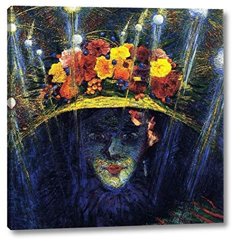 "Modern Idol by Umberto Boccioni - 16"" x 16"" Gallery Wrap Canvas Art Print - Ready to Hang"