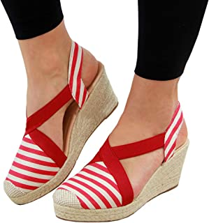 c44d5e0935f Amazon.com: 11 - Red / Platforms & Wedges / Sandals: Clothing, Shoes ...
