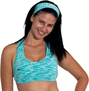 Sara Crave Women's Support Bra, Stylish Supplex Green Printed Gym Sports Bra