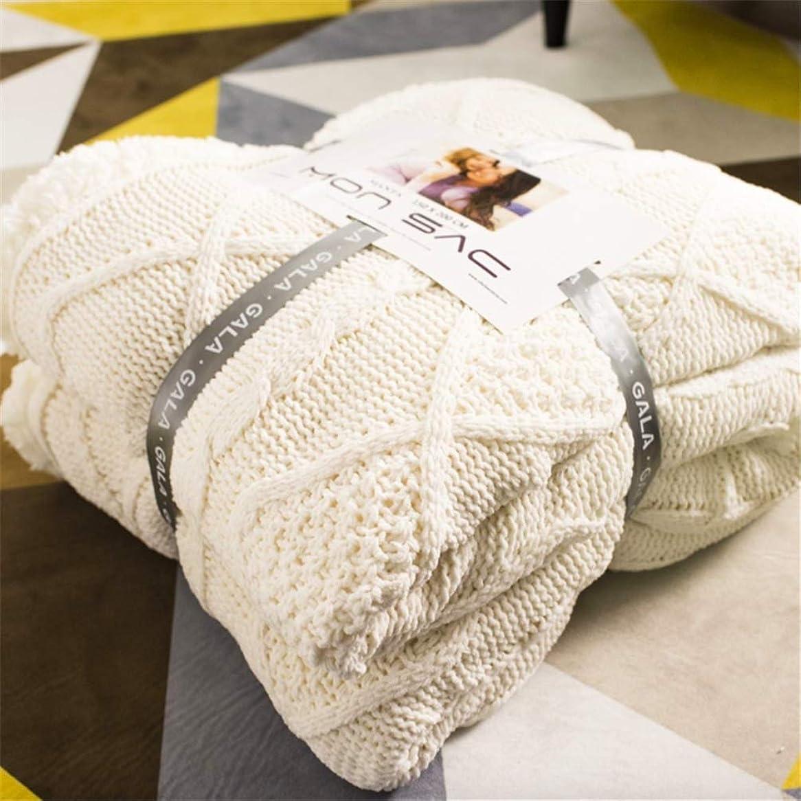 シャッフルによって潮Enipate 毛布 シングル ニットブランケット かわいい 北欧 ひざ掛け 洗える あったか もこもこ 二枚合わせ プレゼント