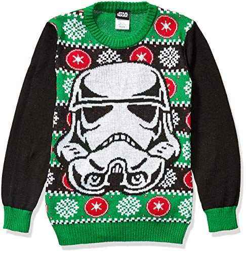 Star Wars Boys' Ugly Christmas Sweater, Stormtrooper/Green, Small (6/7)