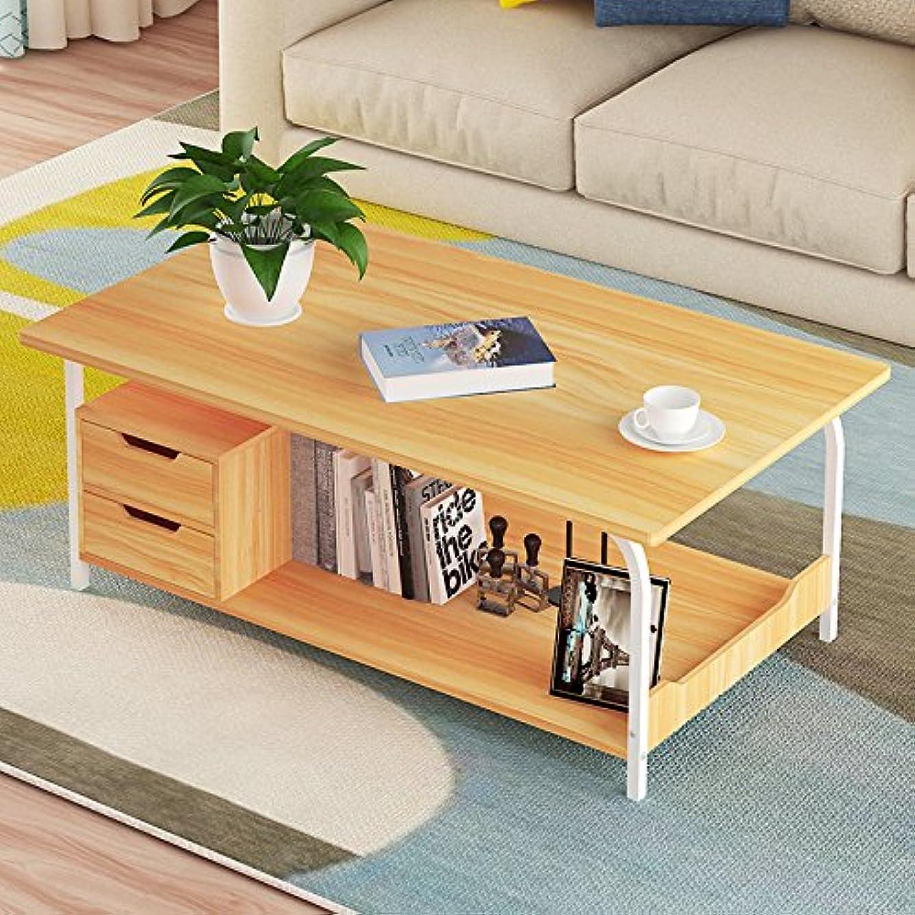振り返る無視便利Hicy センターテーブル ココア テーブル 両側スライド収納付き 座卓 ちゃぶ台 80cm (ナチュラル) (ナチュラル)
