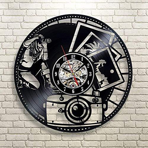 JLCK Regalo de cumpleaños del Reloj de Pared de Vinilo para fotógrafos