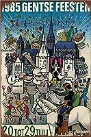 1985 ゲンツェフィーステンポスター、ブリキのサインヴィンテージ面白いクリーチャーアイアンペインティングメタルプレートパーソナリティノベルティ