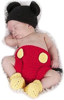 Bebé Conjuntos Sombrero Gorro de Punto + Pantalones Disfraz de Animales Unisexo Fotografía Recién Nacido Ropa de Traje
