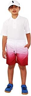 Kids Boys Shorts Fade Two Tone Wine Summer Chino Shorts Knee Length Pants 3-13 Y