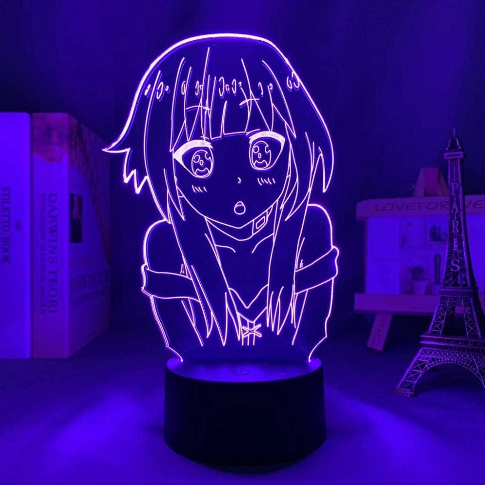 KonoSuba Japanese Anime Light Sign LED New product type Color Wholesale Illusion 3D Lamp 16