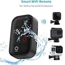 TELESIN Waterproof Smart WIFI Remote Control Camera Controller with Charging Cable Wrist Strap for GoPro Hero 7 Hero 6 Hero 5 Black, Hero 4/3+, Session 4/5, Fusion