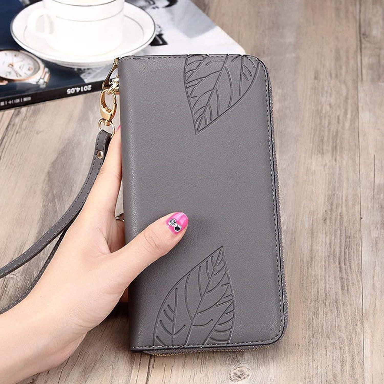 Soft Long Wallet Ladies Handbag Tide Simple Zipper Large Capacity Wallet Girls Wallet Handbag (color   C)