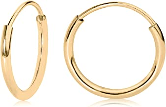 Best mens gold hoop earrings 14k Reviews