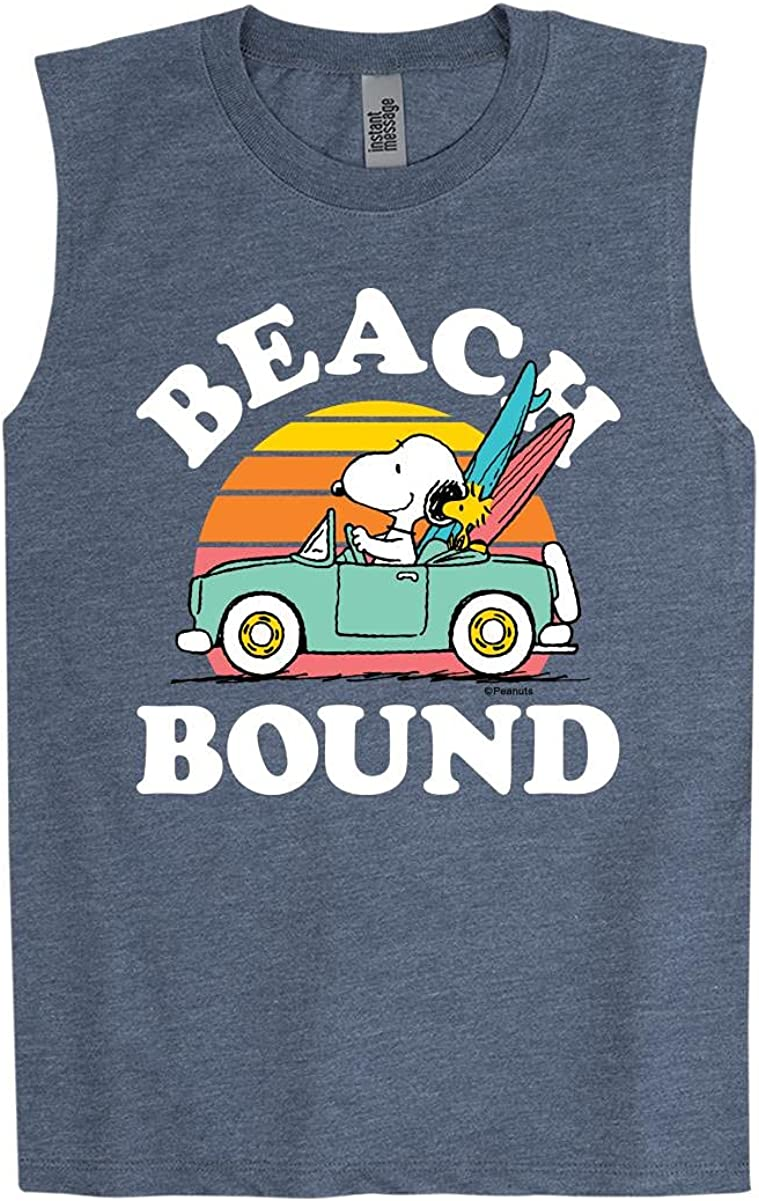 Peanuts - Beach Bound - Youth Muscle Tank