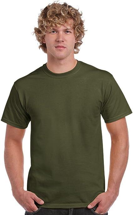 Gildan Heavy Cotton 5000 - Camiseta para hombre Verde militar ...