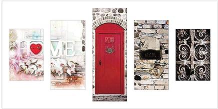 DXZJN lienzo 5 piezas impresi/ón pintura sal/ón decoraci/ón del hogar impresi/ón dibujos orqu/ídea flor pintura modular arte de la pared pintura diamante lirio abstracto 200X100 CM