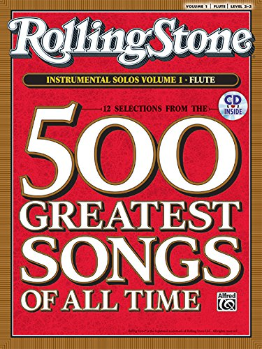Selections from Rolling Stone Magazine's 500 Greatest Songs of All Time (Instrumental Solos), Vol 1: Flute, Book & CD
