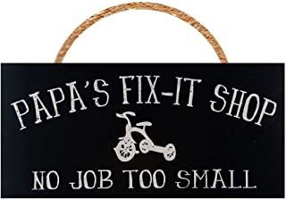 Man Cave and Garage Wall Decor Signs PERFECT GIFT FOR ANY GARAGE OR MAN CAVE DECOR FOR MEN (Papa's Fix-It Shop)