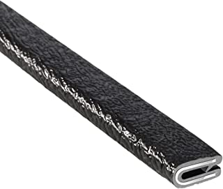 "Trim-Lok Edge Trim – Fits 1/16"" Edge, 9/16"" Leg Length, 25' Length, Black, Pebble Texture – Flexible PVC Edge Protector for Sharp/Rough Surfaces, Easy to Install"