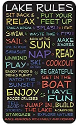 Lake House Rules Sign