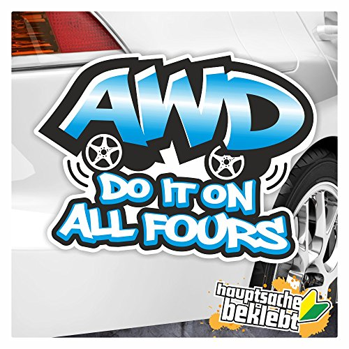 AWD Do It On tous Fours en 7 tailles autocollants Multicolore Stickers Decal