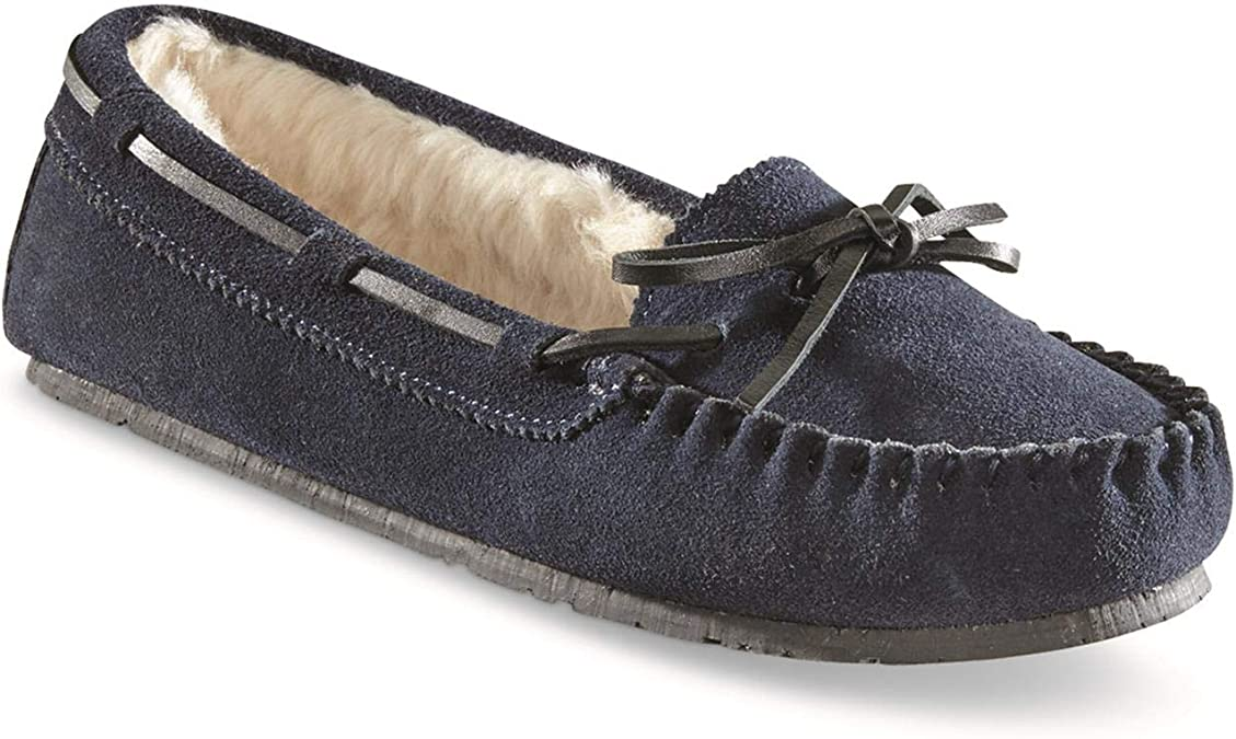 Guide Gear Womens Suede Moccasin Slippers