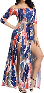 Romper Split Maxi Dress High Elasticity Floral Print...