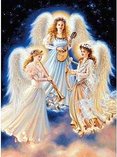 DIY Diamante Pintura Orquesta Angel 40x50 cm de punto de cruz diamante kits de pintura para adultos Niño rhinestone arte para El Hogar regalo decorar el hogar