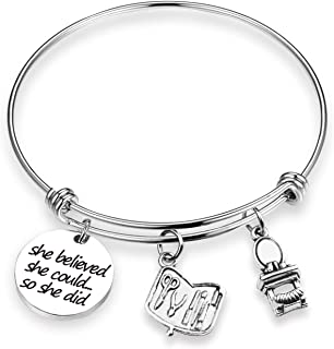 e6a2de116 ZNTINA Cosmetician Bracelet Cosmetologist Gift She Believed She Could Makeup  Artist Jewelry Graduation Gift Beautician Gift