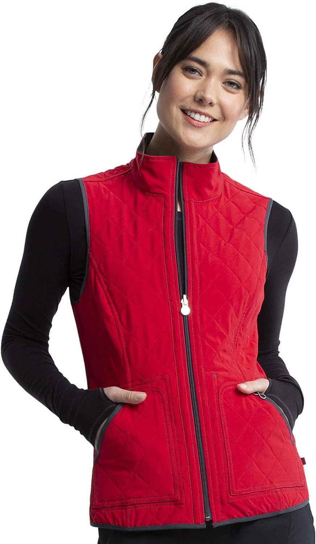 Cherokee Infinity Women Scrubs Vest Reversible Quilted CK530A