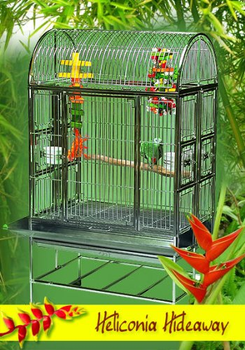 Heliconia Hideaway Stainless Steel Large Bird...