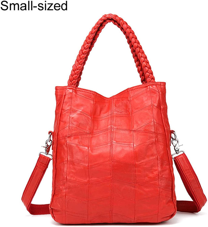 100% Genuine Leather Bags Real Sheepskin Women Handbags Patchwork Crossbody Bags for Women