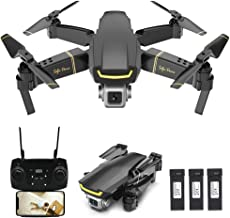 $68 Get GoolRC GW89 RC Drone with Camera 1080P HD WiFi FPV Drone, Gesture Photo Video Altitude Hold Foldable RC Quadcopter with 3 Battery
