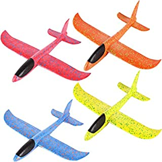 4 stycken flygplansleksaker, handgjorda skumflygplan, 2 flyglägen, flygglidflygplan, leksaker för utomhusspel, barnfestart...