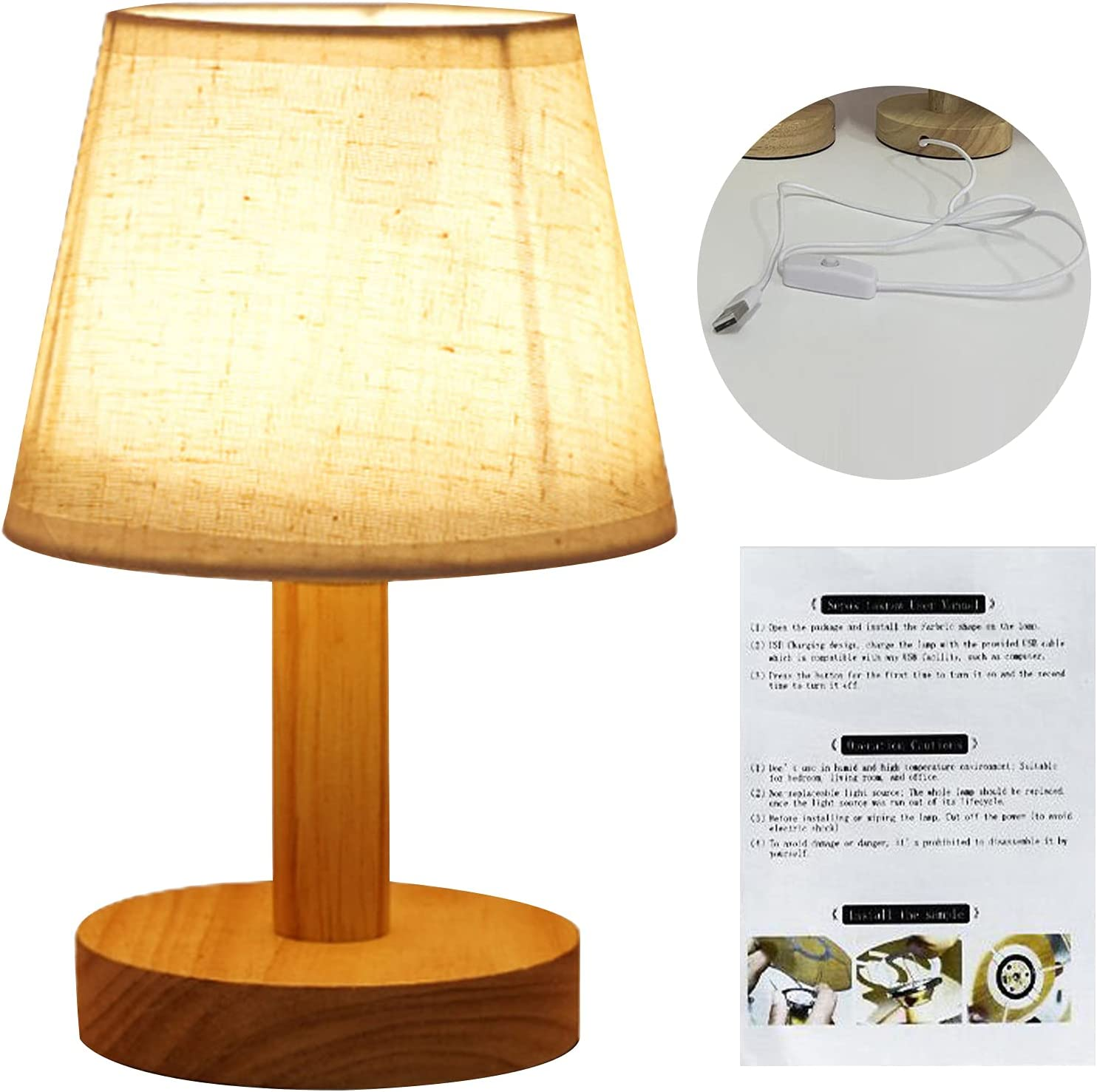 5 popular JENPECH LED Table Lamp Stable Re Fabric Bedside Study Max 67% OFF