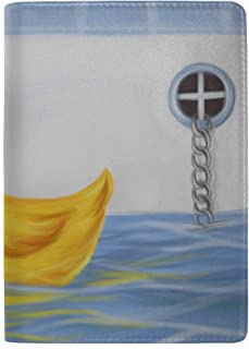 A Group of Yellow Rubber Ducks Blocking Print Passport Holder Cover Case Travel Luggage Passport Wallet Card Holder Made with Leather for Men Women Kids Family