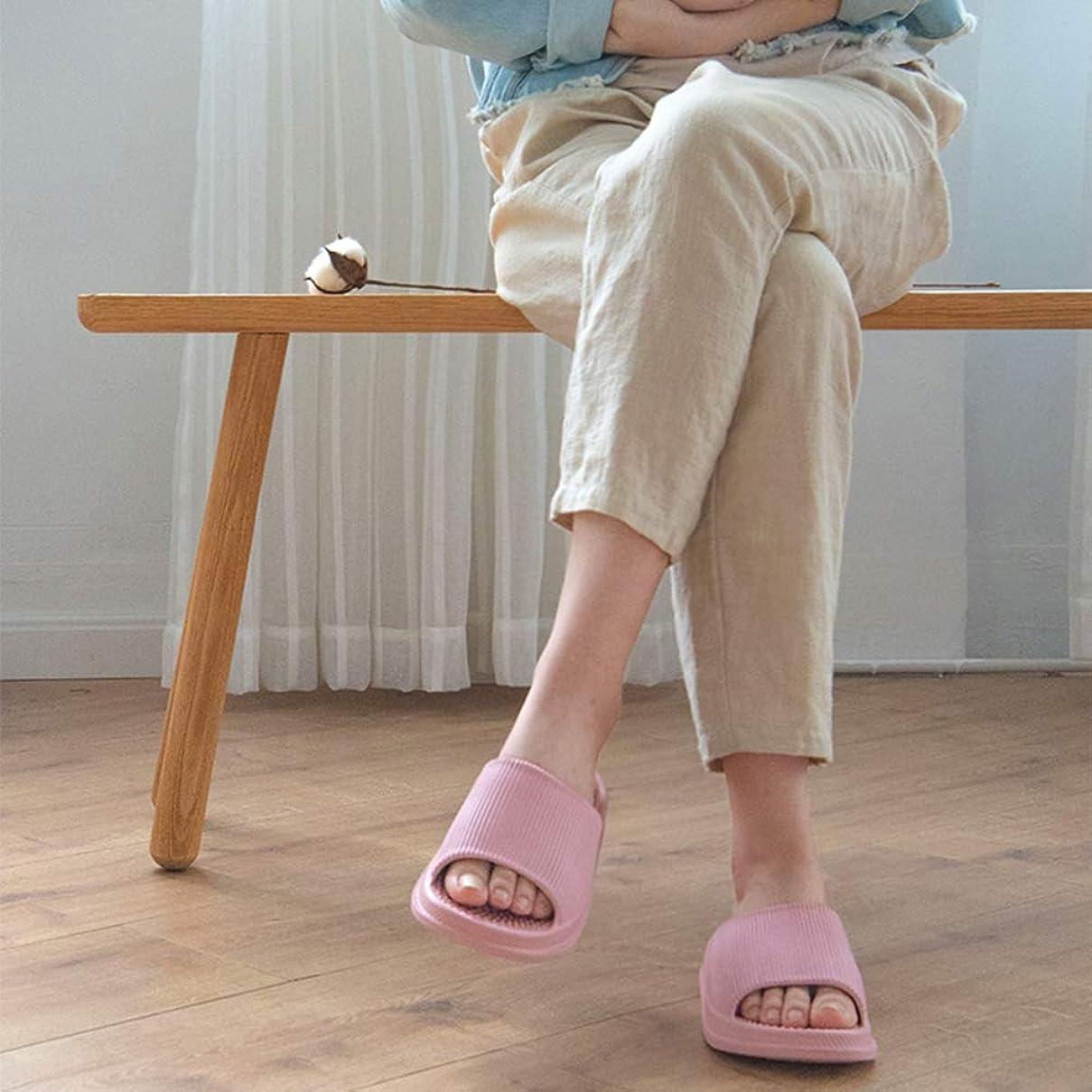 徐々に安西処方マッサージスリッパ、夏の屋内鍼治療のポイント女性浴室サンダルスリッパ厚底マッサージ消臭剤、足底筋膜炎、かかと、アーチの痛みを和らげる,L