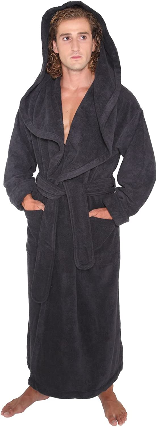 Arus Men's Big Tall Long Monk Robe Hooded Tur New sales Length Full Safety and trust