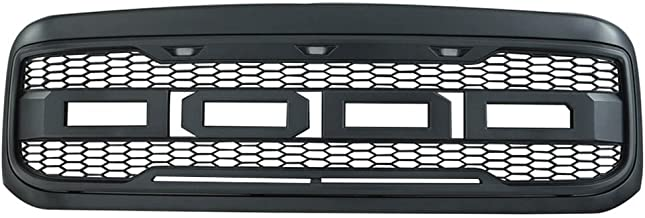 Packaged Grille Compatible With 1999-2004 Ford F250 & F350 Super Duty | New Raptor Style Charcoal Gray ABS Front Bumper Grille Hood Mesh Guard by IKON MOTORSPORTS | 2000 2001 2002 2003