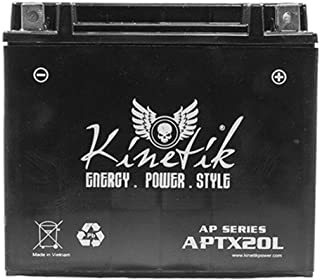 Kinetik 12V 18AH Replacement for Interstate Cycle-Tron FAYTX20L / CYTX20L-BS
