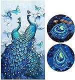 SHUIBIAN DIY 5D diamante pintura conjunto, pintura de diamante de cristal de diamantes de imitación bordado pinturas para decoración de la pared del hogar decoración de la oficina 45x80cm color 29