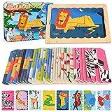 Animales Puzzles de Madera para iños 3 4 5 6 7 8 Años Montessori Educativos Rompecabezas Juegos Preescolar Aprendizaje de Juguetes Regalos para niños y niñas